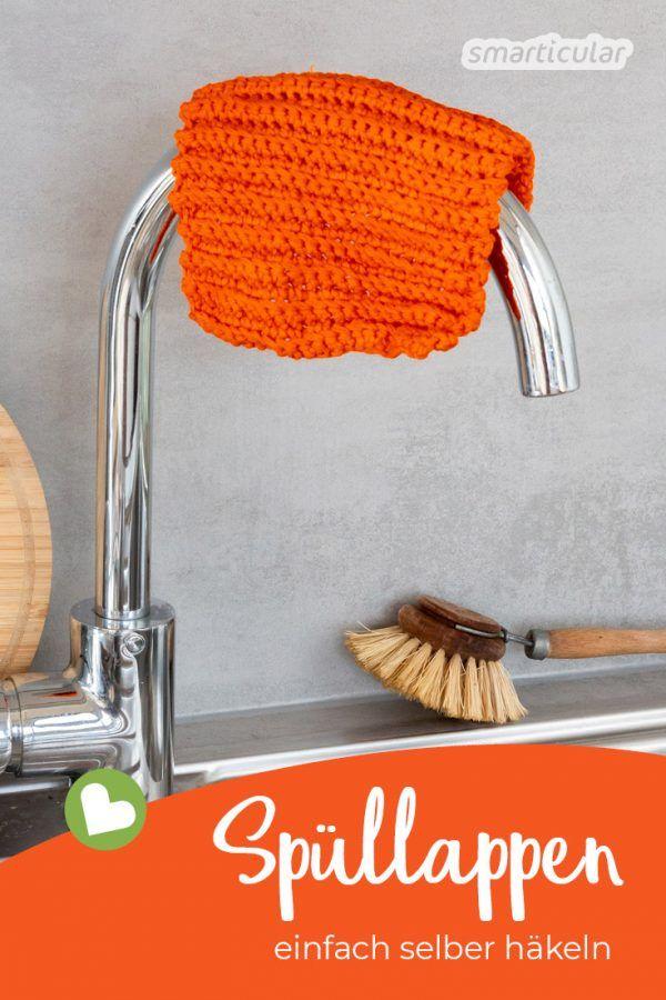 Crochet contre les déchets plastiques: c'est si facile de crocheter un torchon   – Stickrahmen