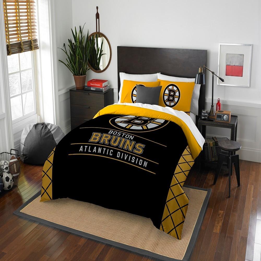 NHL Boston Bruins Northwest Draft Full Queen Comforter Set Queen