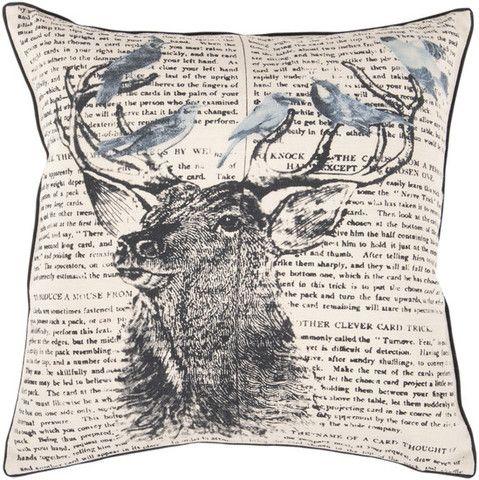 Birds on a Rack Pillow