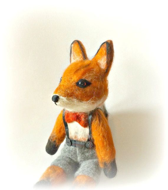 RESERVED FOR SIOBHAN W -Needle Felted Fox -soft sculpture-needle felted animal-ooak