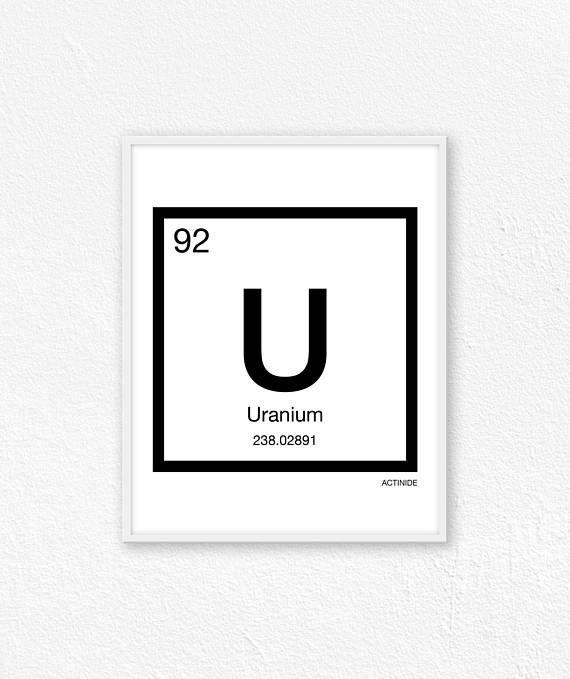 92 uranium periodic table element periodic table of - Periodic Table Of Elements Uranium