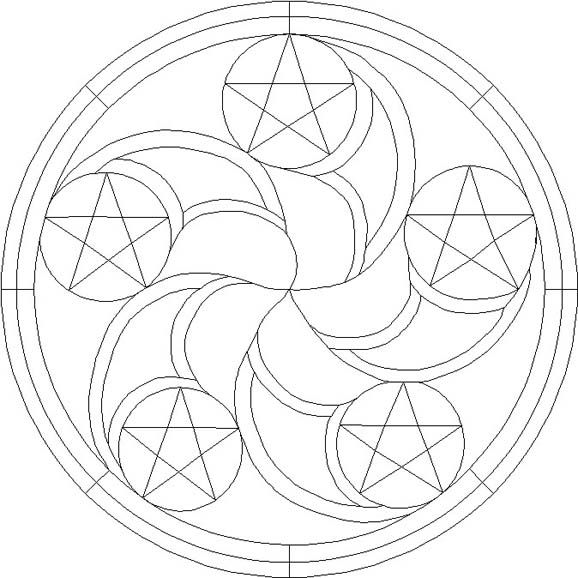 Hex Symbols Free Patterns Free Patterns Stained Glass