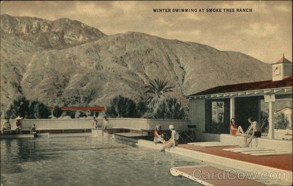 Winter Swimming At Smoke Tree Ranch Palm Springs California