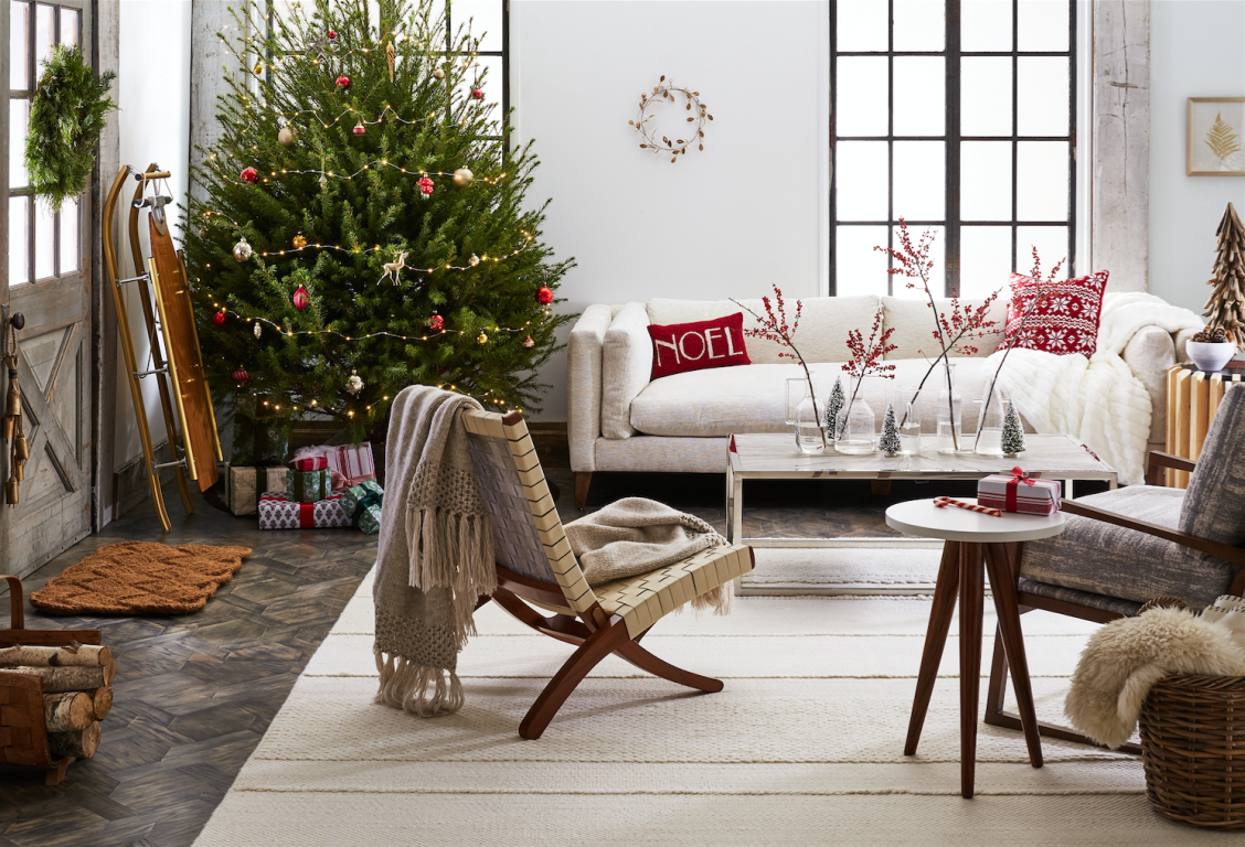 nordic style furniture. A Cozy Nordic-style Living Room With Red Christmas Accents, Scandinavian-style Furniture Nordic Style S