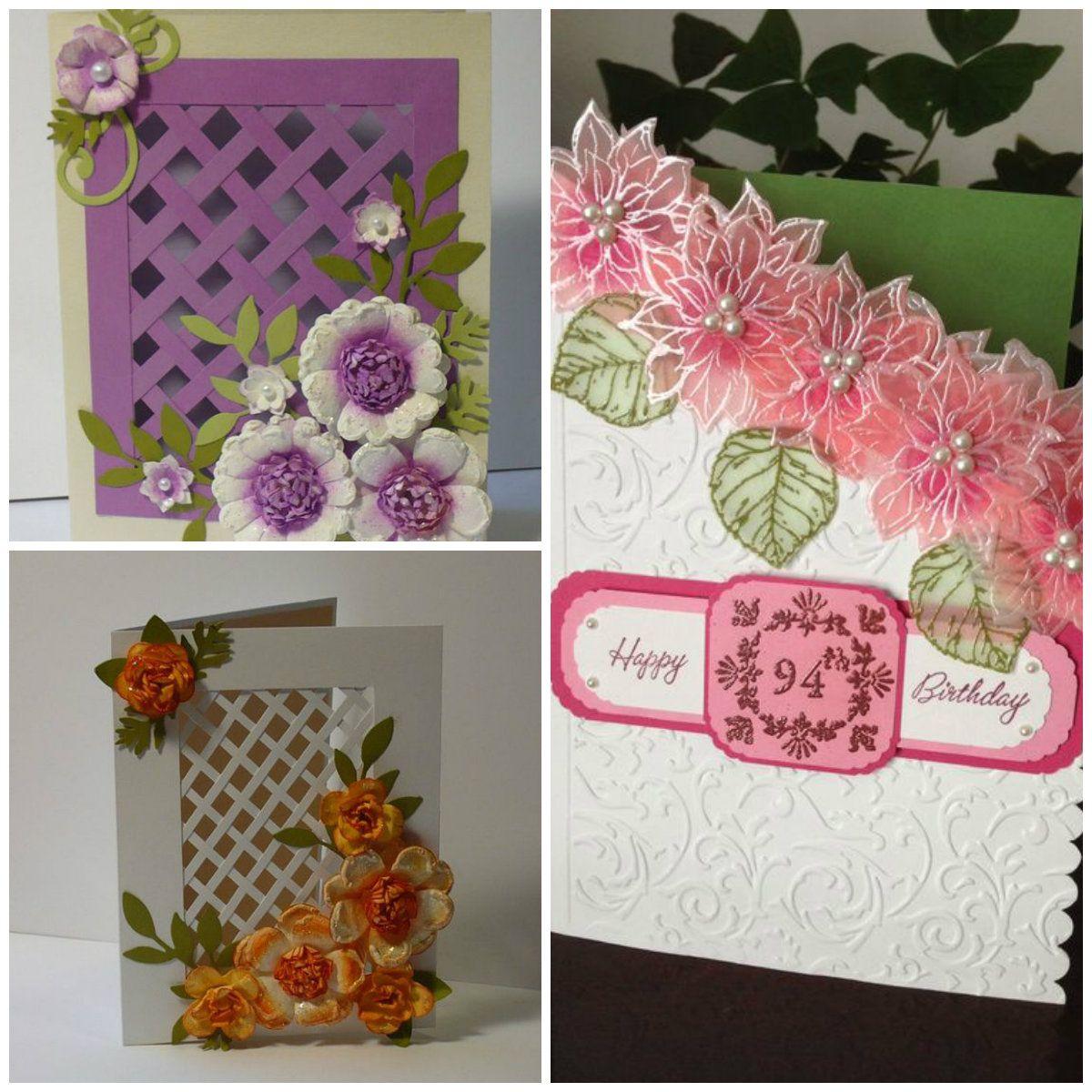 Floral homemade cards handmade christmas card ideas for husband
