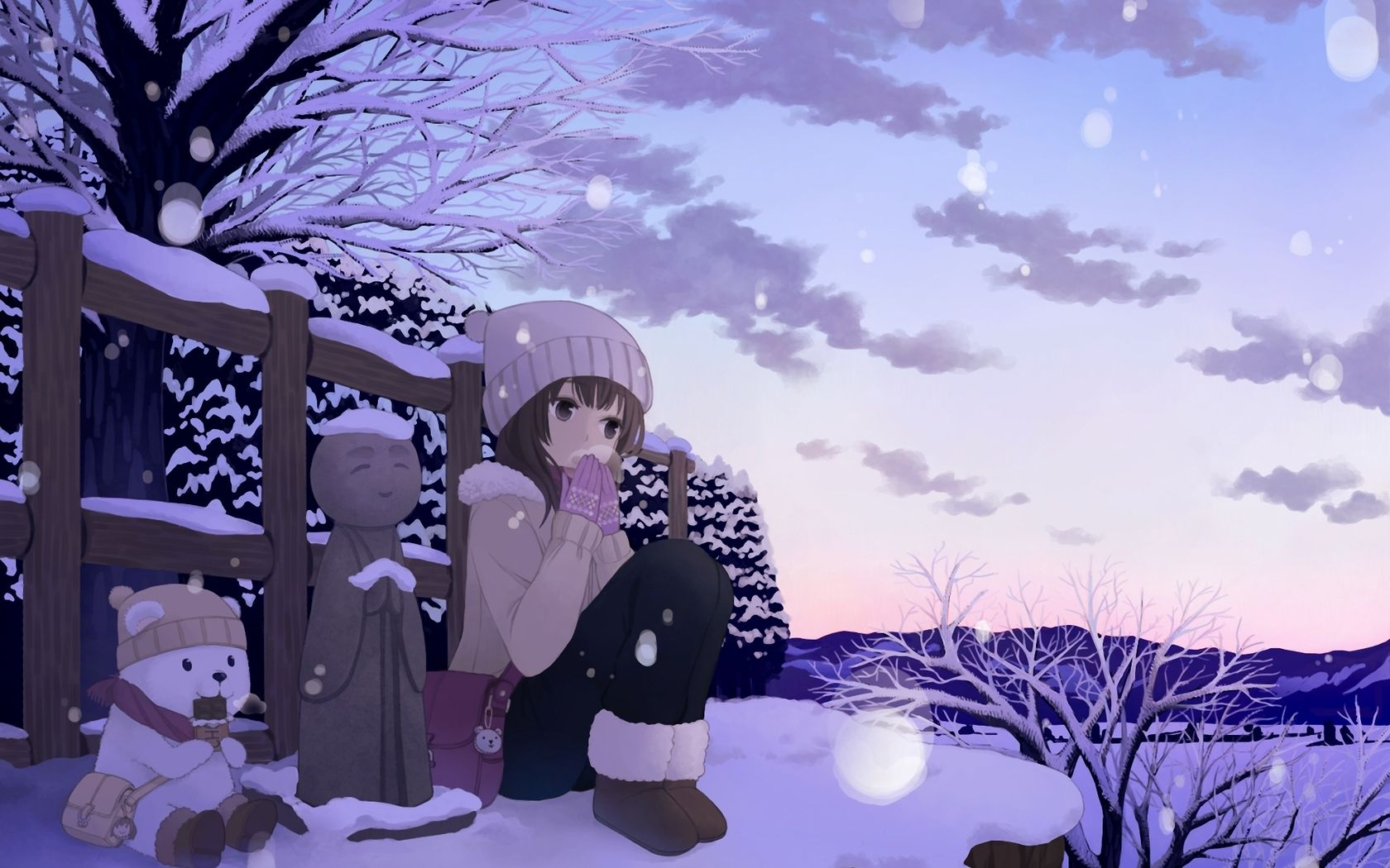 Anime Winter Wallpaper 42573 1680x1050 Px Anime Art Beautiful Winter Wallpaper Hd Anime Wallpaper