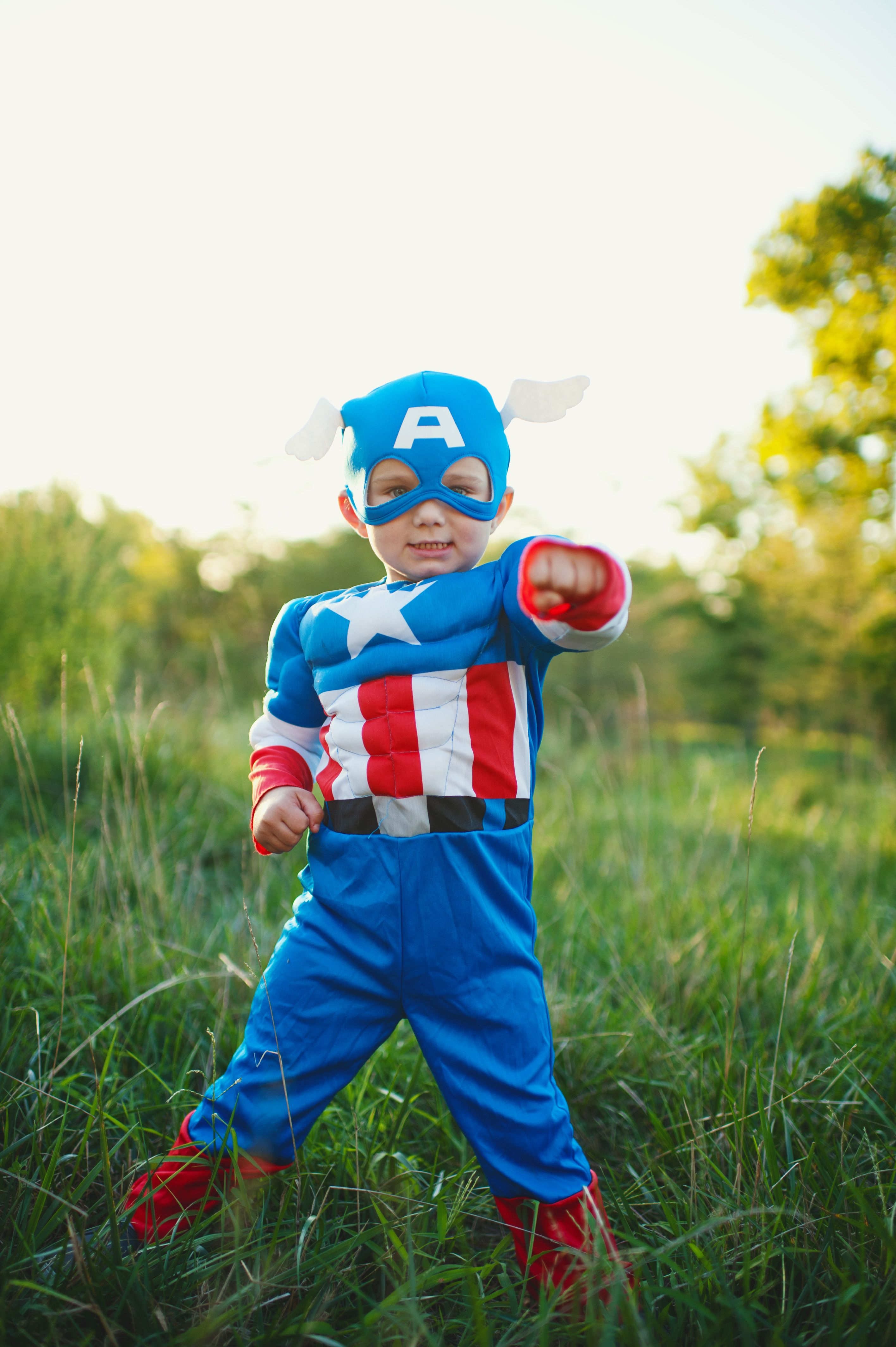 Captain America! I'm hoping to get all of my kids and my sisters kids in their halloween costumes this year!