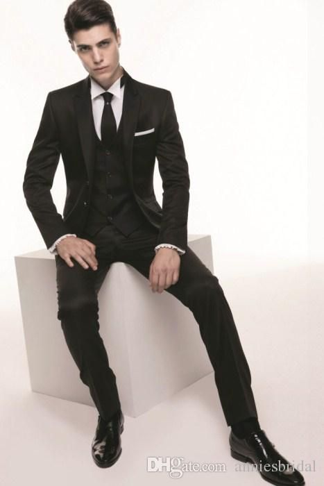 smart-black-wedding-suits-for-men-2015-peaked.jpg (467×700) | CHESTI ...