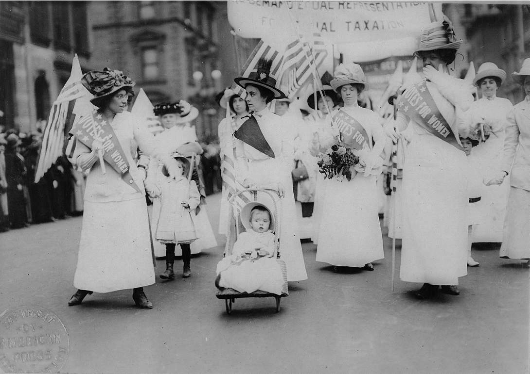 Campaigning for women's suffrage