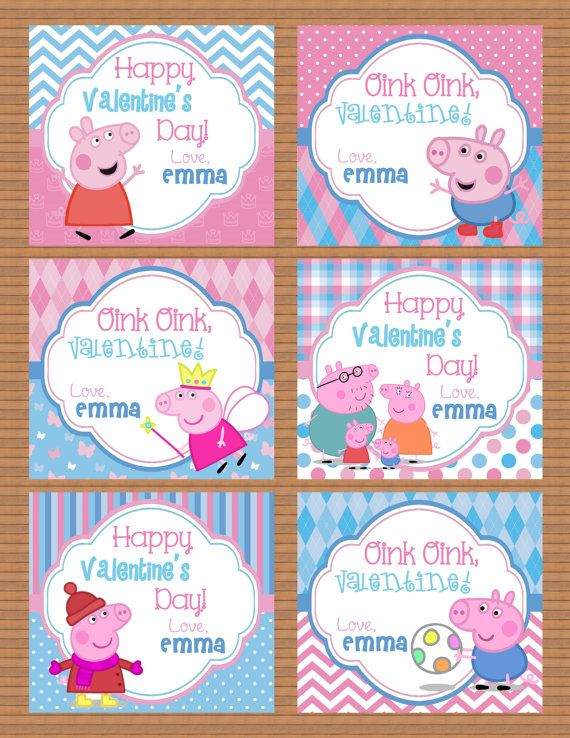 Personalized Peppa Pig Valentine Class Cards for by susanefird – Pig Valentine Cards