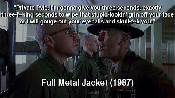Full Metal Jacket 1987 Even Though This Isn T Private Pyle It S Still Funny Full Metal Jacket Full Metal Jacket Quotes Movie Quotes