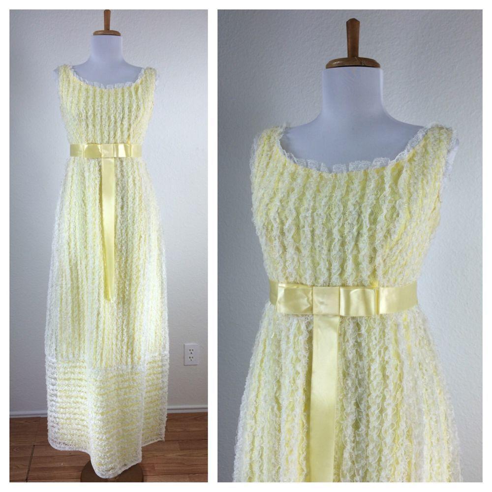Ebay yellow maxi dress