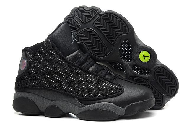 5864d4bcaaa58 Air Jordan 13 Retro All Black