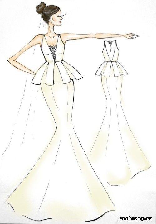 e0b0c2a2237 Эскизы свадебных платьев Roma Nova   короткие кружевные свадебные платья
