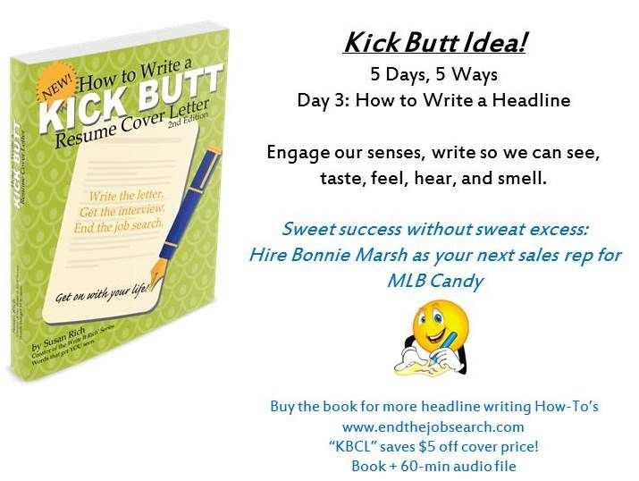 Day 3 How to write a headline for your kick-butt resume cover - how to write a cover resume