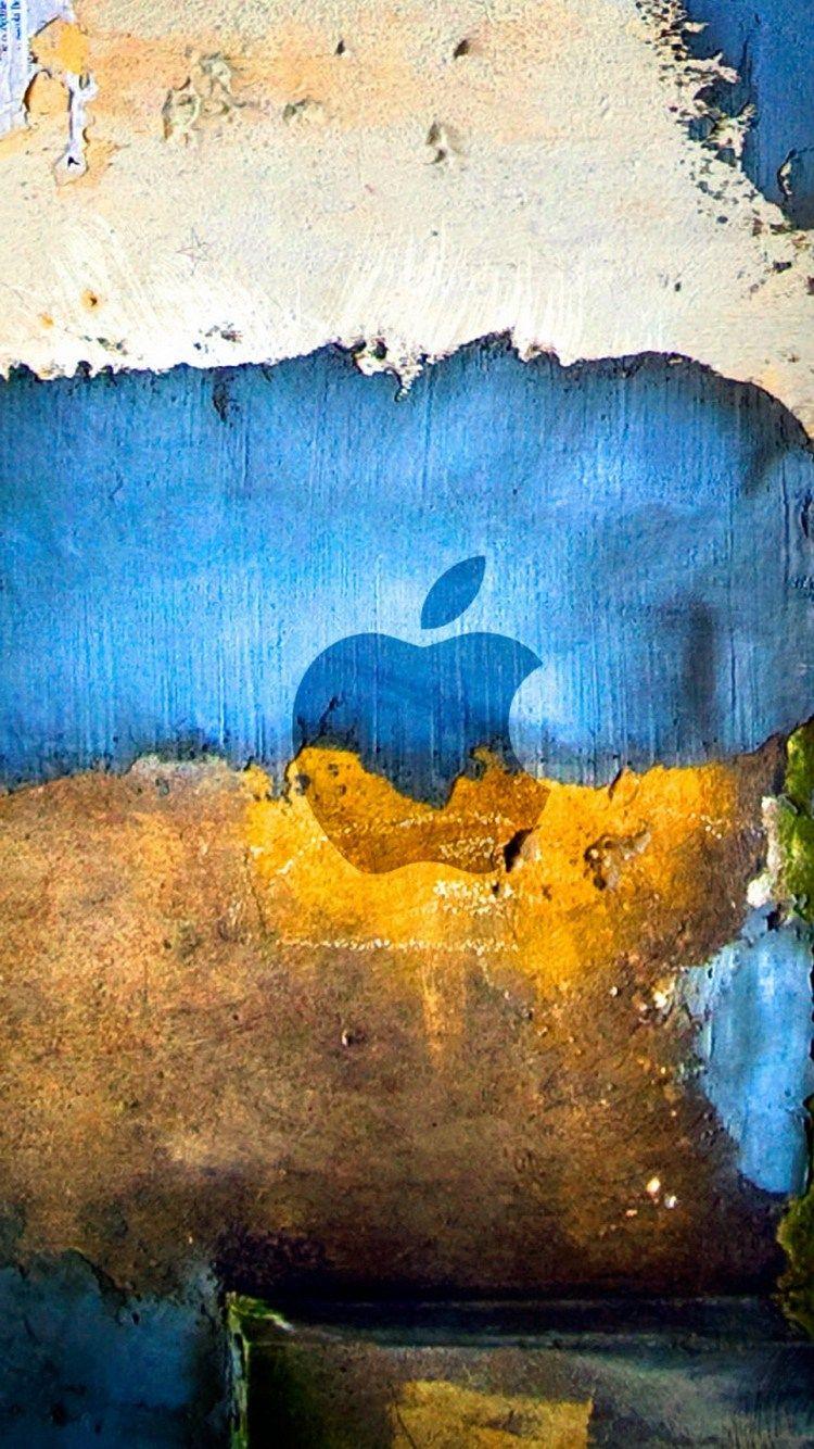 Apple Graffiti Grunge Style logo iPhone 6 Wallpaper