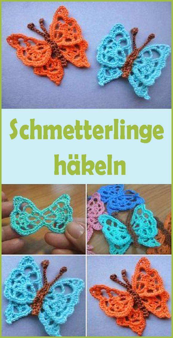 Schmetterling häkeln - kostenlose DIY-Anleitung - Talu.de | 1100x564