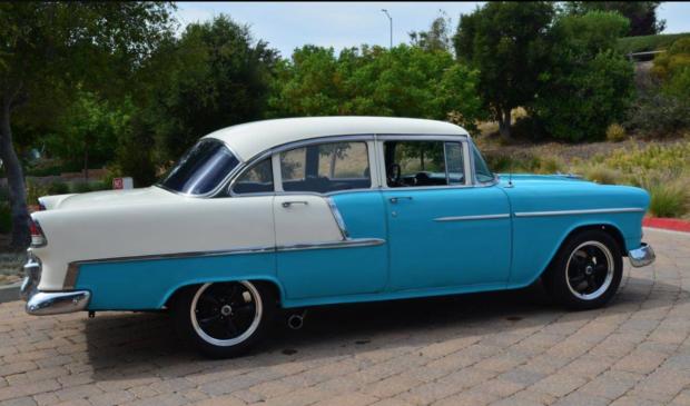 1955 Chevrolet Bel Air 4 Door 4 Speed In 2020 Chevrolet Bel Air