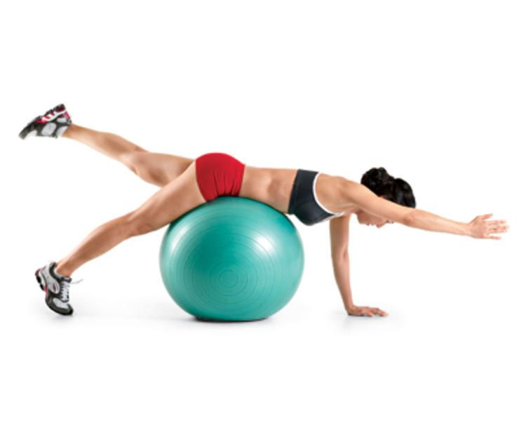 Stability Ball Side Lift: 25 Swiss Ball Exercises That Tone Your Whole Body