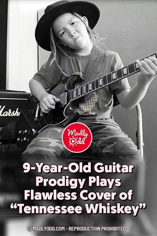 9 Year Old Guitar Prodigy Plays Flawless Cover Of Tennessee Whiskey In 2020 Tennessee Whiskey Singing Videos Music For Kids