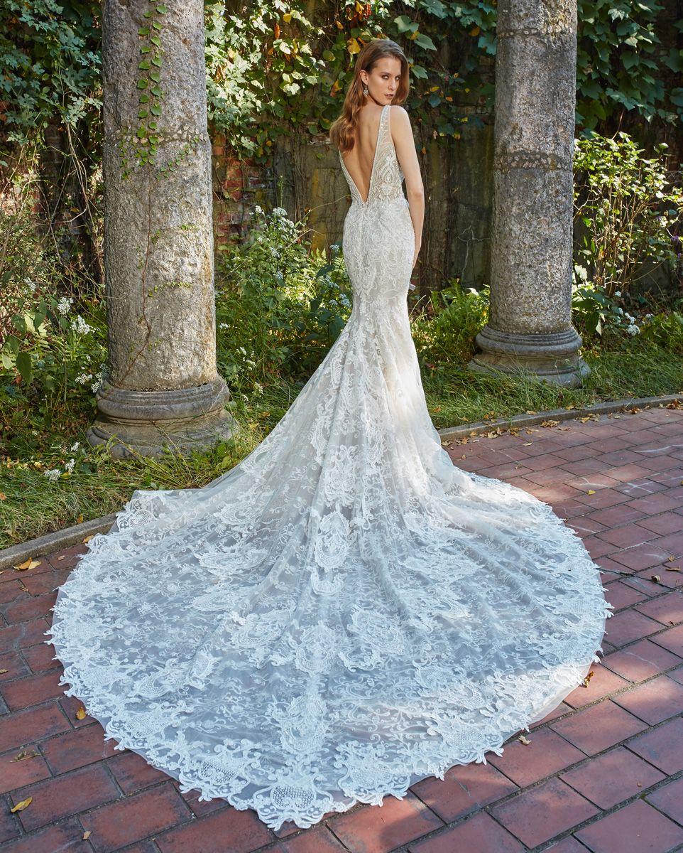 Amalia Carrara wedding dresses Style 356 Ivory/Blush all over hand ...