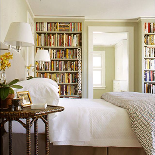 Love the built in bookcases in this master bedroom  Bookshelves on closet  doors. Pin by Lauren Cohen on  dream house  bedroom    Pinterest