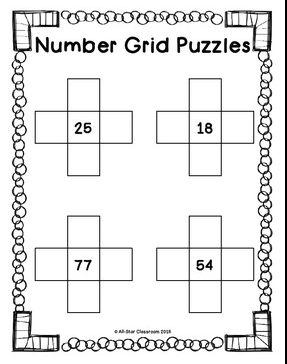 32 number grid puzzles that are perfect for math centers or wake-up work. Differentiated for grades K, 1st and 2nd. Created with the common core standards in mind!