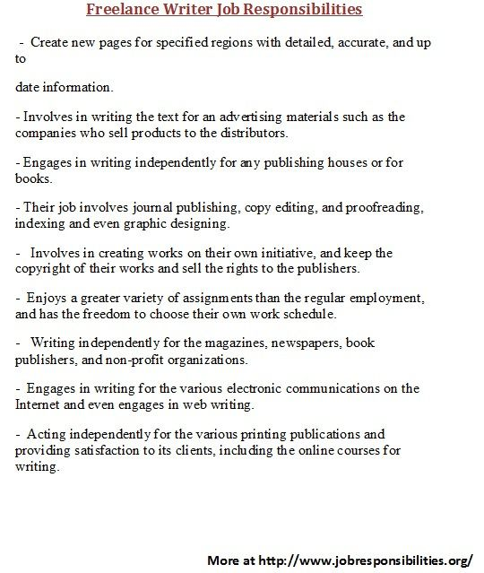 To know about various writing job responsibilities visit www