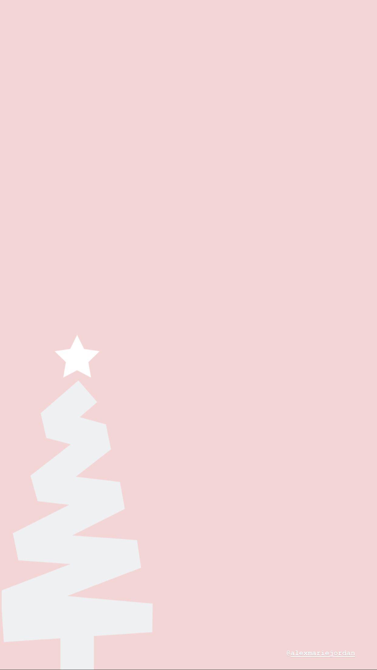 Pink Christmas Tree Wallpaper Cute Christmas Wallpaper Wallpaper Iphone Christmas Christmas Phone Wallpaper