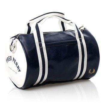 Fred Perry - Mini sac polochon bicolore - bleu marine