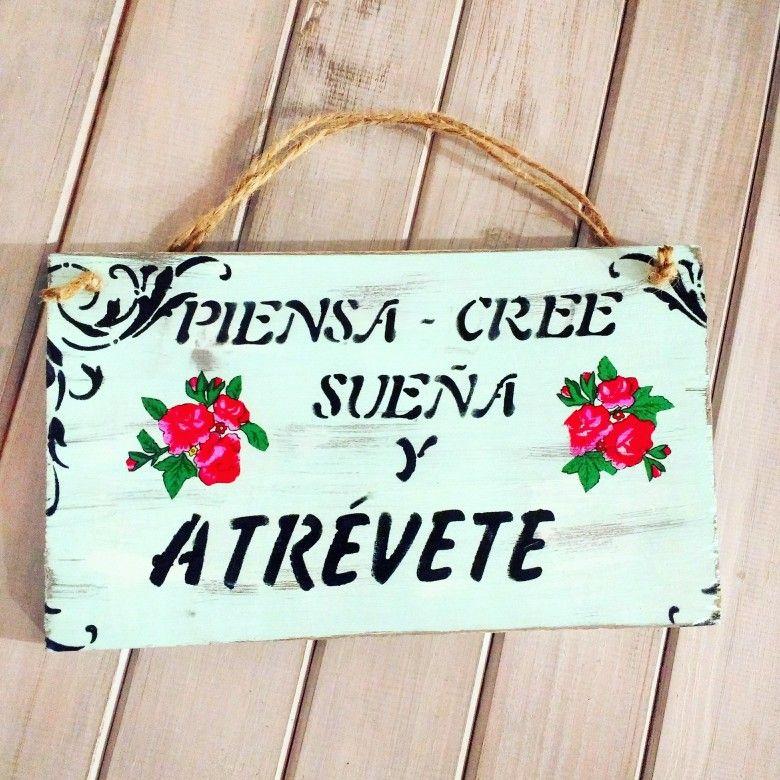 Cuadro Cartel Decorativo Vintage Frases Vida Carteles