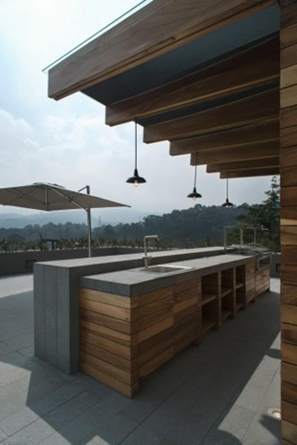 Barra Asador Roof Garden De Rhyzoma Arquitectura Y Diseño