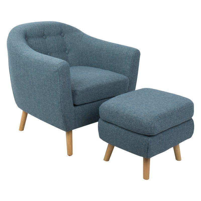 Superb Lumisource Rockwell Mid Century Modern Accent Chair With Machost Co Dining Chair Design Ideas Machostcouk