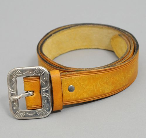 LEVI S VINTAGE CLOTHING  Embossed Buckle Belt, Yellow   WF ... 1a9eaccb0e0