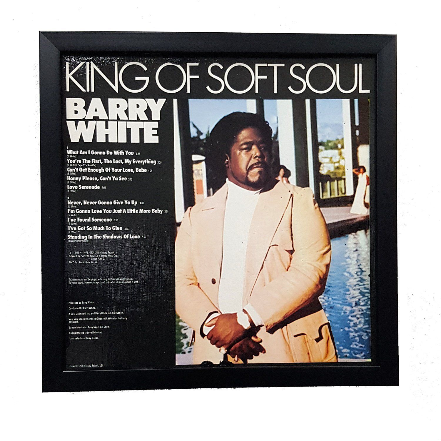 Barry White Album Wall Art Framed Or Clock Album Cover Art Vinyl