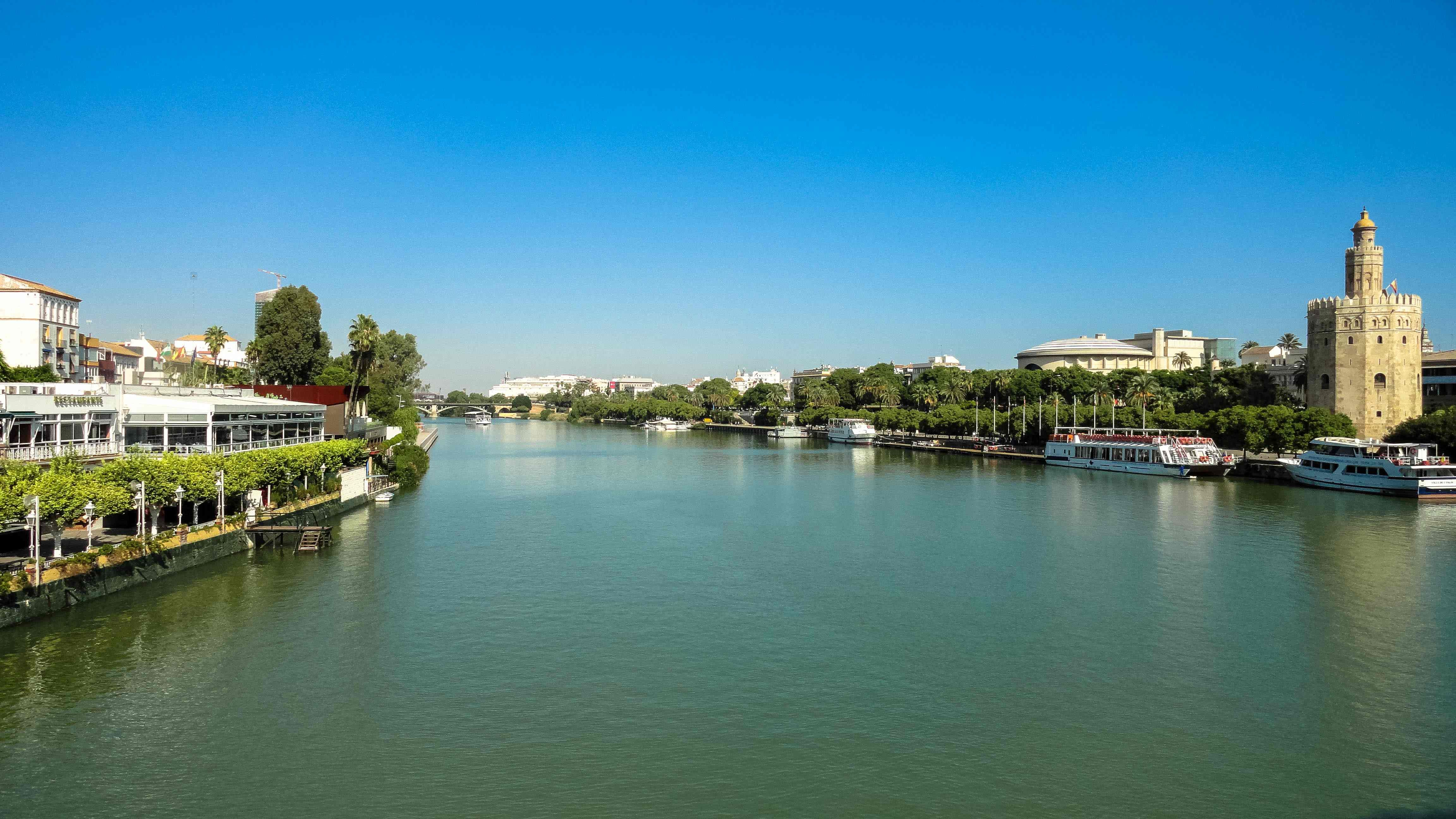 the Guadalquivir river. Seville, Spain.
