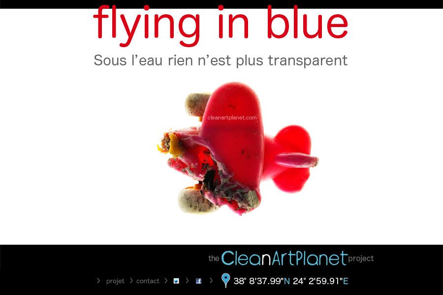 FLYING IN BLUE
