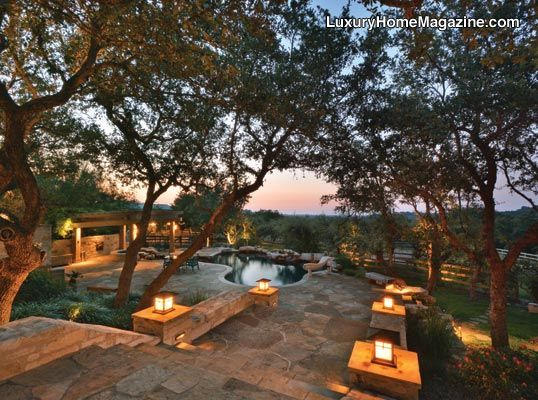 Beautiful Home Located In The Equestrian Community Of Madrone Ranch In Austin Tx Hill Country Homes Country Pool Back Porch Makeover