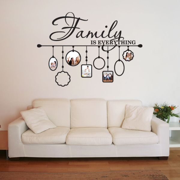 Family Picture Frame Deco Vinyl Wall Art (31in x 23in Black), Style ...