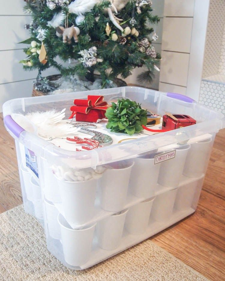 In Need Of Some Christmas Storage Ideas These Christmas Storage Hacks Will Help You Organize Your Chri Christmas Storage Diy Ornament Storage Ornament Storage