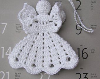 Crochet angel christmas ornament home decor a crochet dolls