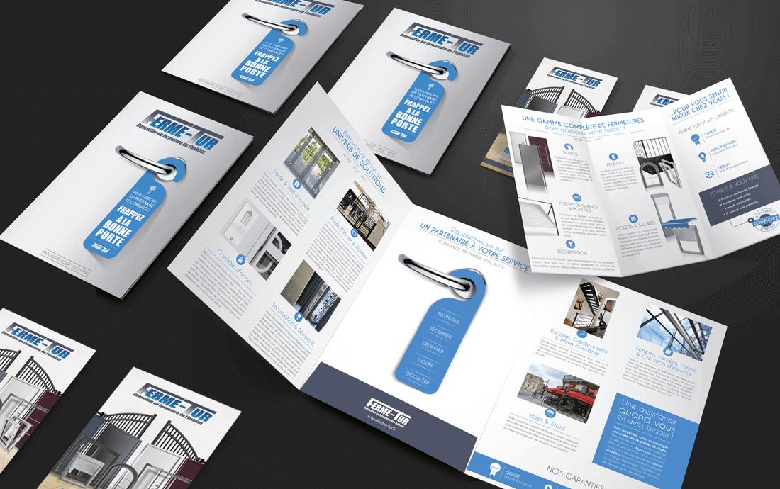 De nouveaux supports print pour Ferme-Tur, réalisés par l'agence Useful.