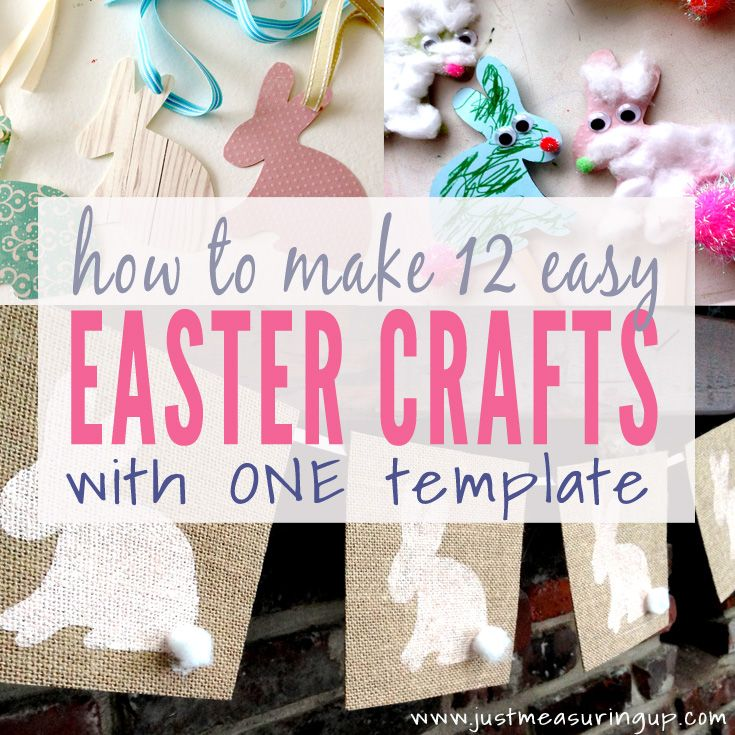 12 Easter Crafts That You Can Make With The Same Bunny Template
