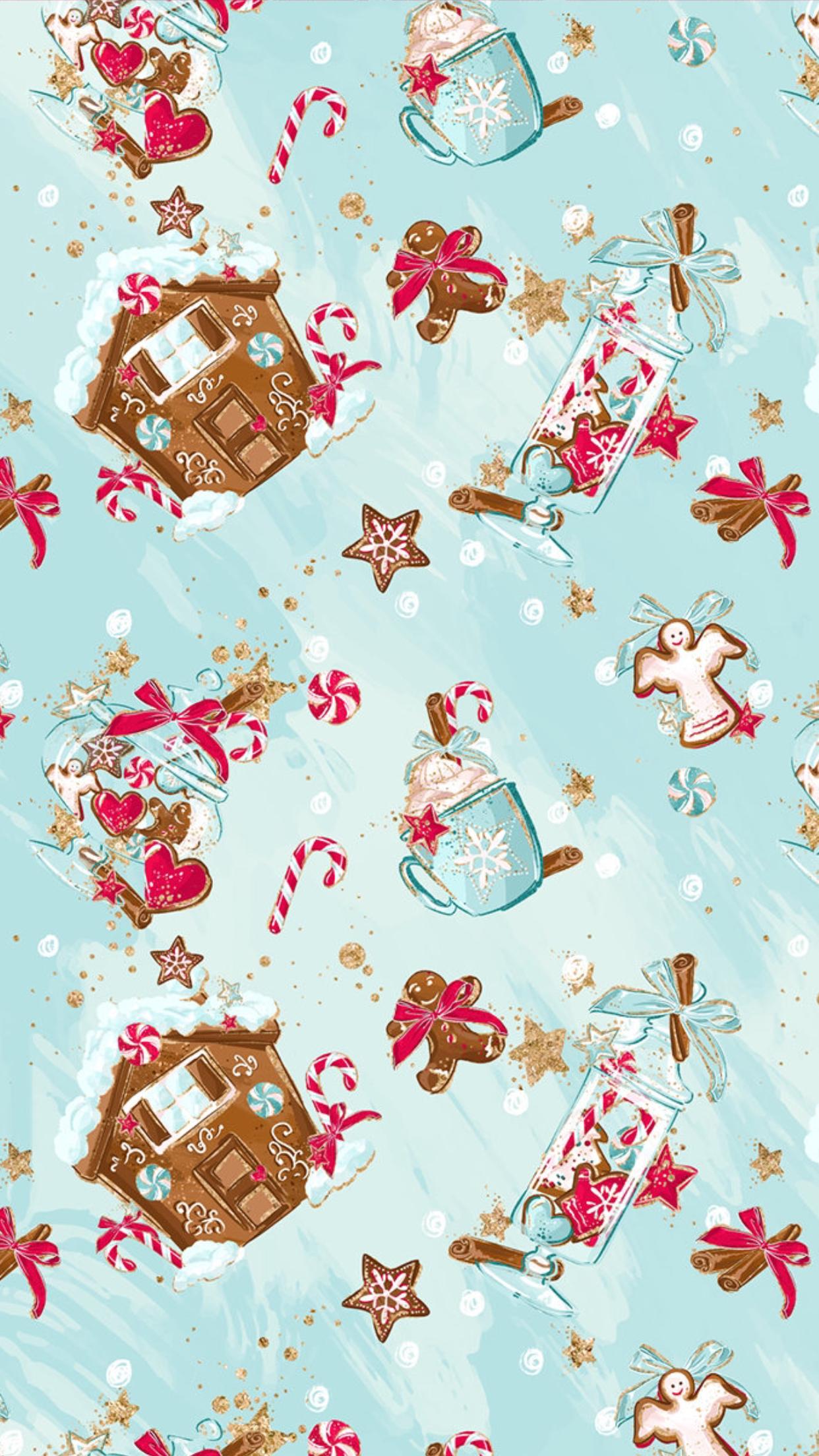Novogodnij Fon Dlya Posta V Soc Setyah V Biryuzovom Cvete Christmas Phone Wallpaper Christmas Wallpaper Christmas Illustration