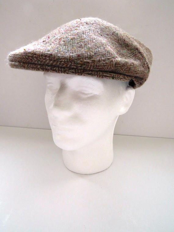 Shandon Ireland Brown Tweed Cap Size 7 7.8 Vintage Wool  f5a930d5ed9