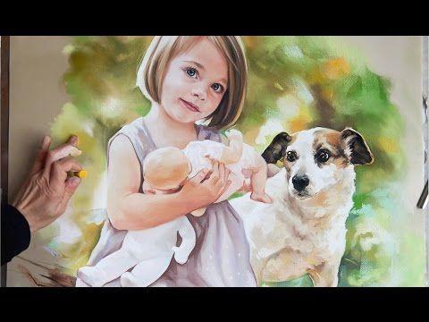 Pastel portrait, big size soft pastel portrait - YouTube