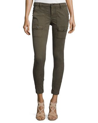 Park Twill Skinny Cargo Pants, Fatigue at CUSP.