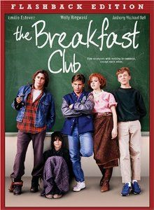 The Breakfast Club is a 1985 American coming of age comedy-drama film written and directed by John Hughes and starring Judd Nelson, Paul Gleason, Anthony Michael Hall, John Kapelos, Emilio Estevez, Molly Ringwald, and Ally Sheedy. The storyline follows five teenagers, each a member of a different high school clique, who spend a Saturday in detention together and come to realize that they are all more than their respective stereotypes, while facing a villainous principal.