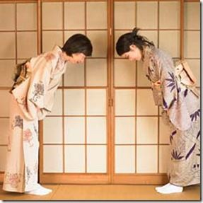 Bowing is common in japan as people greet each other by bowing as it bowing is common in japan as people greet each other by bowing as it shows respect longer and deeper bowing is shown at formal events m4hsunfo