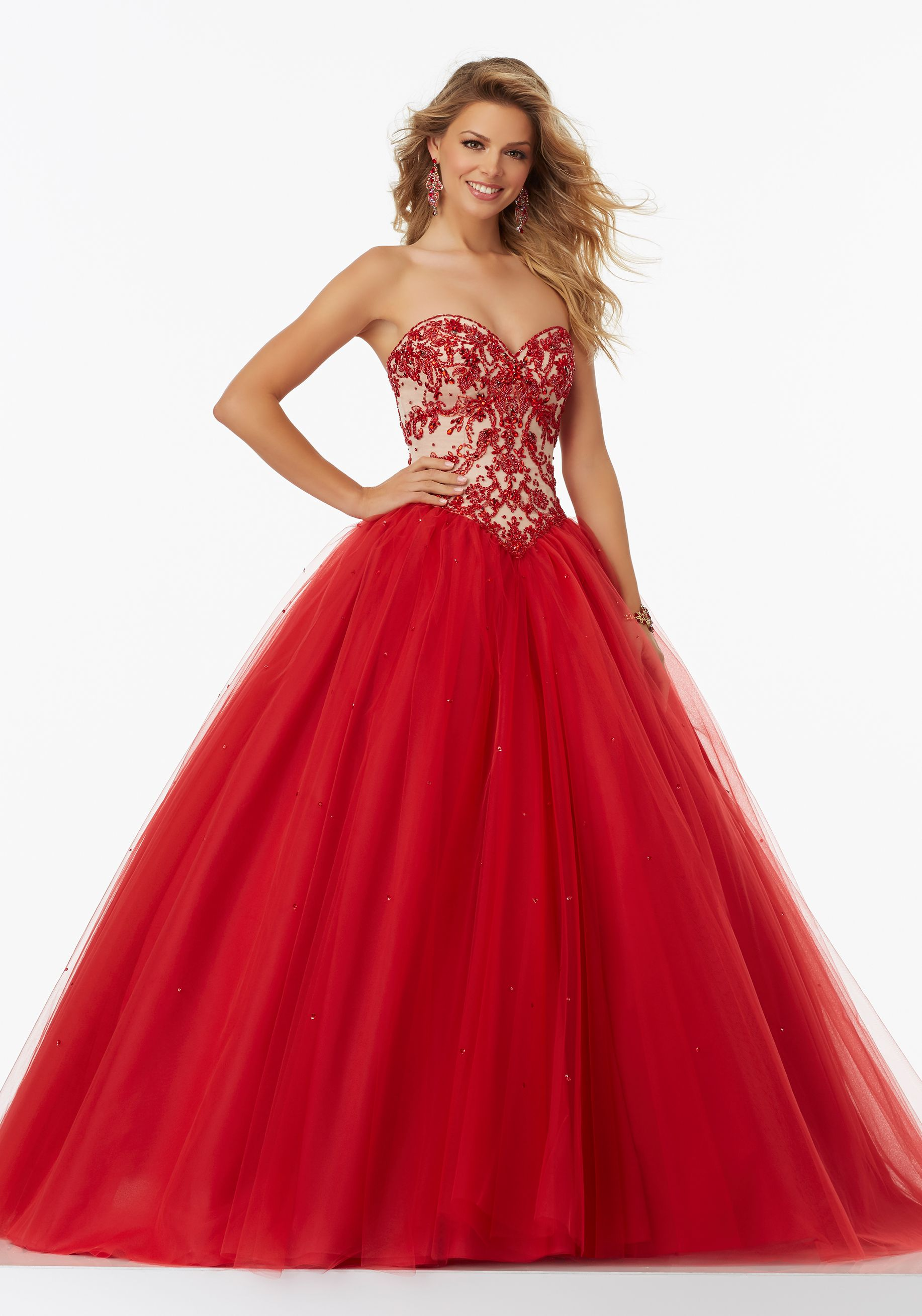 Basque Waist Ball Gown Strapless Sweetheart Neckline Prom Gown With Beaded Ball Gowns Prom Dresses Mori Lee Prom Dresses [ 2620 x 1834 Pixel ]